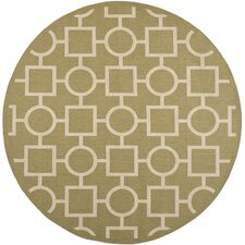 Courtyard Green / Beige Rug