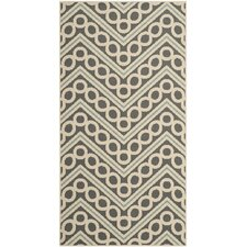 Hampton Dark Grey / Ivory Outdoor Rug