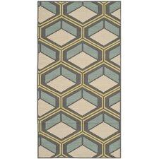 Hampton Dark Ivory Geometric Outdoor Area Rug