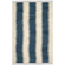 Navajo Kilim Blue / Ivory Rug