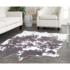Faux Hide Grey & Ivory Area Rug