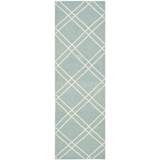 Dhurries Light Blue/Ivory Area Rug
