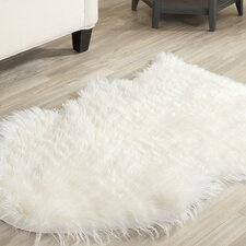 Faux Sheep Skin Ivory Rug
