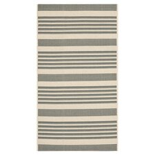 Courtyard Grey/Bone Indoor/Outdoor Rug