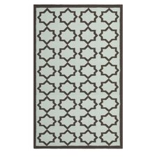 Dhurries Light Blue/Ivory Cross Rug