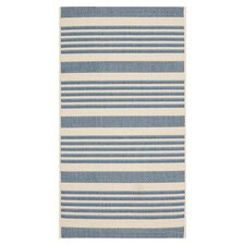 Courtyard Beige/Blue Indoor/Outdoor Rug