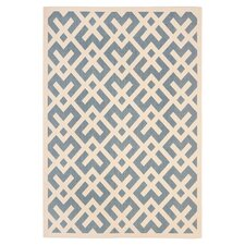 Courtyard Blue & Bone Area Rug