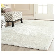 South Beach Snow White Shag Rug