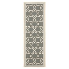 Courtyard Anthracite/Beige Outdoor Area Rug