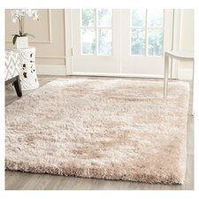 South Beach Champagne Shag Area Rug