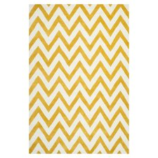 Cambridge Chevron Gold & Ivory Area Rug