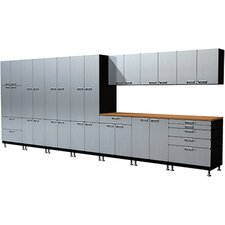 25 Piece Work Center S73 Storage and Organizational Cabinet Set