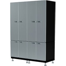 6 Piece Twin Storage Cabinet Set