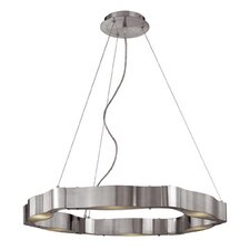 Titanium 6 Light Cable Chandelier with Frosted Glass