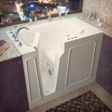 "Flagstaff 52"" x 29"" Whirlpool Jetted Walk-In Bathtub"