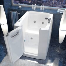"Durango 38"" x 32"" Whirlpool Jetted Walk-In Bathtub in White"