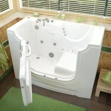 "HandiTub 60"" x 30"" Whirlpool & Air Jetted Wheelchair Accessible Walk-In Bathtub"