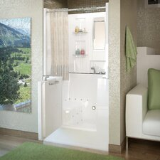 "Mesa 42"" x 31"" Air Jetted Walk-In Bathtub with Shower Top Enclosure"