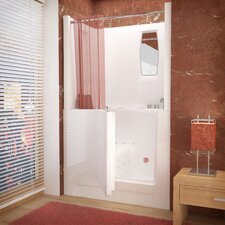 "Telluride 47"" x 27"" Air Jetted Walk-In Bathtub with Shower Top Enclosure"