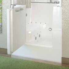 "Mesa 40"" x 30"" Whirlpool & Air Jetted Walk-In Bathtub"