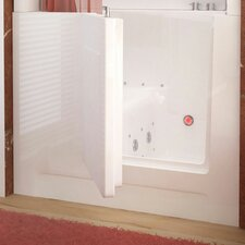 "Telluride 30"" x 27"" Right Drain Whirlpool & Air Jetted Walk-In Bathtub in White"