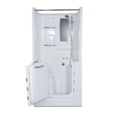 "Mesa 40"" x 30"" Walk-In Tub with Whirlpool and Right Hand Drain"