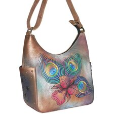 Premium Peacock Flower Hobo Bag