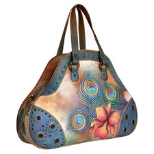 Extra Premium Peacock Flower Shopper Tote bag
