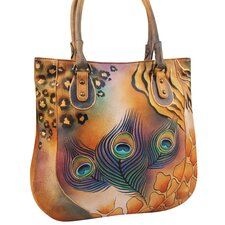 Premium Peacock Safari Tote Bag