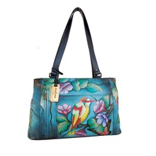Double Entry Shopper Tote Bag