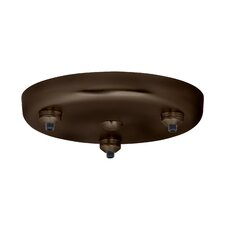 Three Light Round Canopy