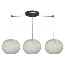 Luna 3 Light Linear Globe Pendant