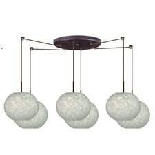 <strong>Besa Lighting</strong> Luna 6 Light Pendant