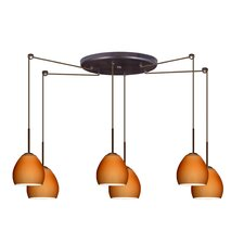 <strong>Besa Lighting</strong> Bolla 6 Light Mini Pendant