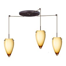 <strong>Besa Lighting</strong> Juli 3 Light Pendant