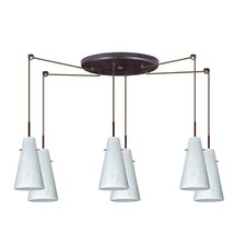<strong>Besa Lighting</strong> Cierro 6 Light Pendant
