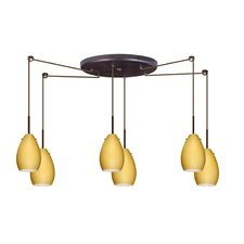<strong>Besa Lighting</strong> Pera 6 Light Mini Pendant