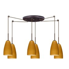<strong>Besa Lighting</strong> Riva 6 Light Pendant