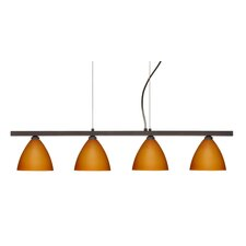 Mia 4 Light Cable Hung Linear Pendant