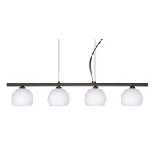 <strong>Besa Lighting</strong> Palla 4 Light Linear Pendant