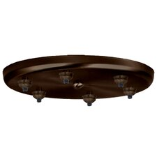 Six Light Round Canopy
