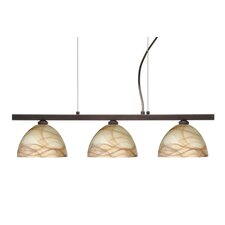 <strong>Besa Lighting</strong> Brella 3 Light Linear Pendant