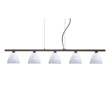<strong>Besa Lighting</strong> Mia 5 Light Cable Hung Linear Pendant