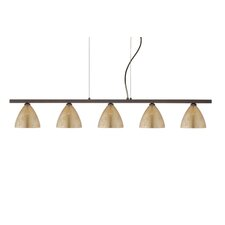 Mia 5 Light Cable Hung Linear Pendant