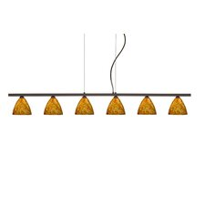 <strong>Besa Lighting</strong> Mia 6 Light Cable Hung Linear Pendant