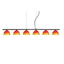 <strong>Besa Lighting</strong> Brella 6 Light Linear Pendant