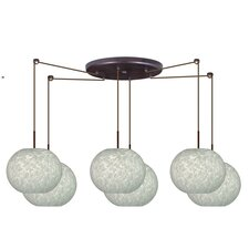 <strong>Besa Lighting</strong> Luna 6 Light Globe Pendant