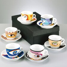 "12-tlg. Cappuccino Set ""Magic Eyes"""