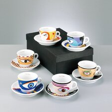 "12-tlg. Espresso Set ""Magic Eyes"""