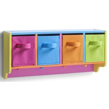 Wandgarderobe Color mit 4 Haken
